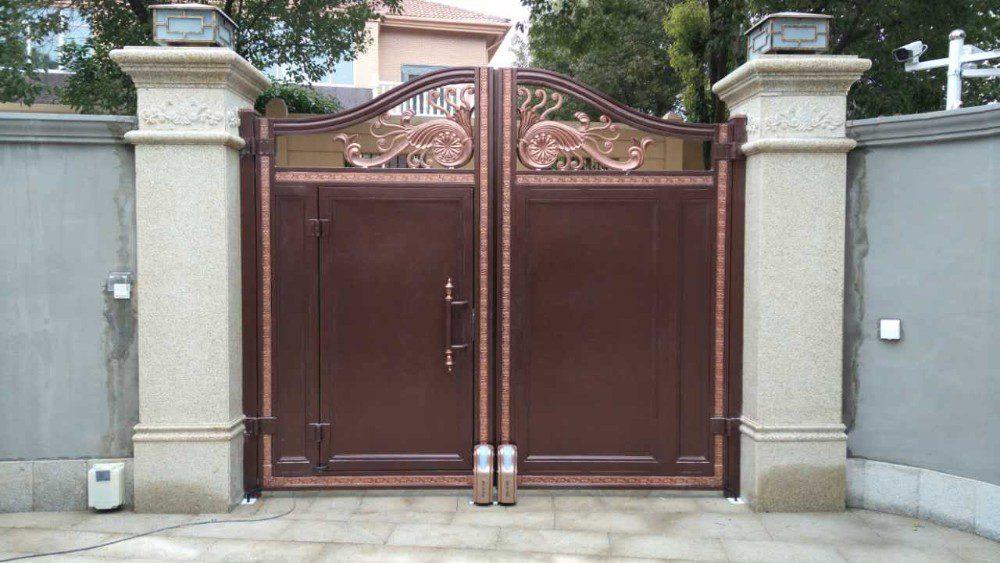 ประตูรั้วอัตโนมัติแบบบานสวิง ประตูรั้วรีโมท แบบล้อเลื่อน