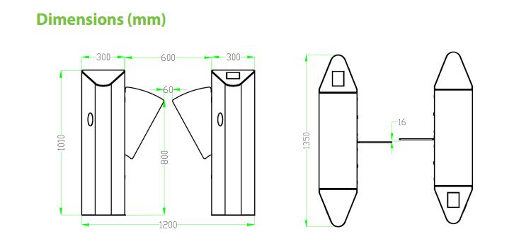 เครื่องกั้นทาง,เครื่องกั้นปีกผีเสื้อ,เครื่องกั้นปีกนก,ประตูรถไฟฟ้า,ประตูบีทีเอส,Flap Barrier,wing gate,ZK-FBL4000/4200