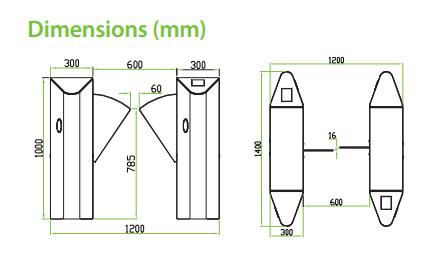 เครื่องกั้นทาง,เครื่องกั้นปีกผีเสื้อ,เครื่องกั้นปีกนก,ประตูรถไฟฟ้า,ประตูบีทีเอส,Flap Barrier,wing gate,ZK-FB1000/1200