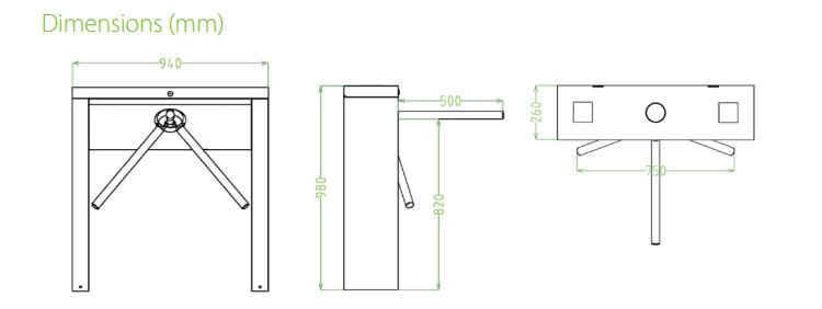 เครื่องกั้นสามขา,ประตูหมุนสามขา,ประตูสามขา,สามขาไฟฟ้า,เครื่องกั้นสามขาไฟฟ้า, Tripod,tripod turnstile,turnstile,ZK-TS3000