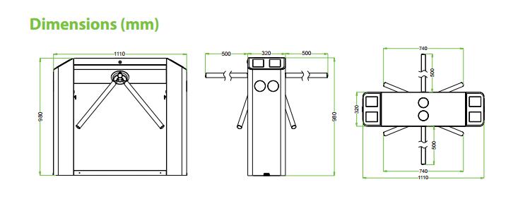 เครื่องกั้นสามขา,ประตูหมุนสามขา,ประตูสามขา,สามขาไฟฟ้า,เครื่องกั้นสามขาไฟฟ้า, Tripod,tripod turnstile,turnstile,ZK-TS2200