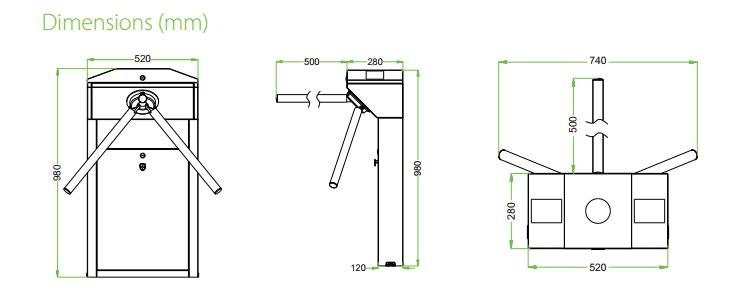 เครื่องกั้นสามขา,ประตูหมุนสามขา,ประตูสามขา,สามขาไฟฟ้า,เครื่องกั้นสามขาไฟฟ้า, Tripod,tripod turnstile,turnstile,ZK-TS1000