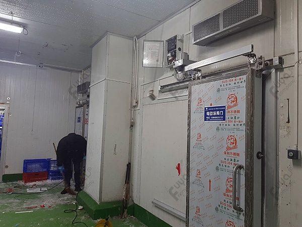 ประตูอัตโนมัติ ห้องเย็นโรงงานครีโม